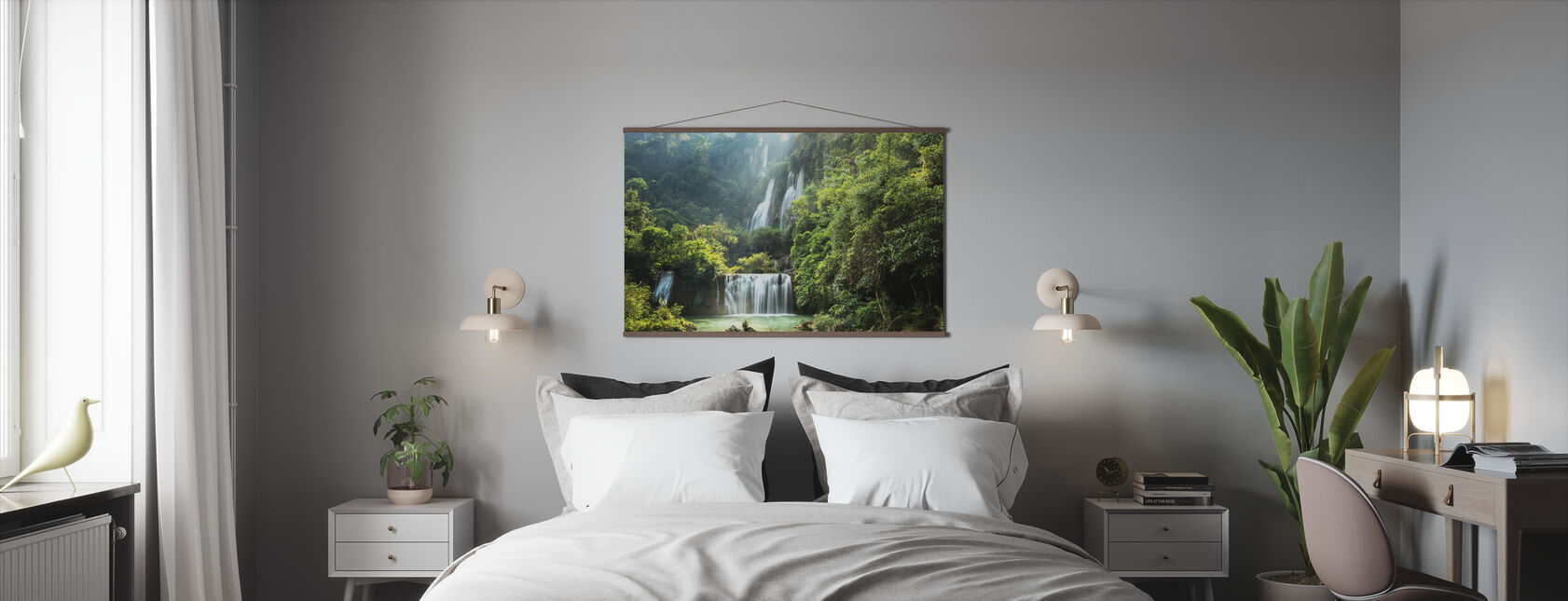 Waterfall in Summer - Poster - Bedroom