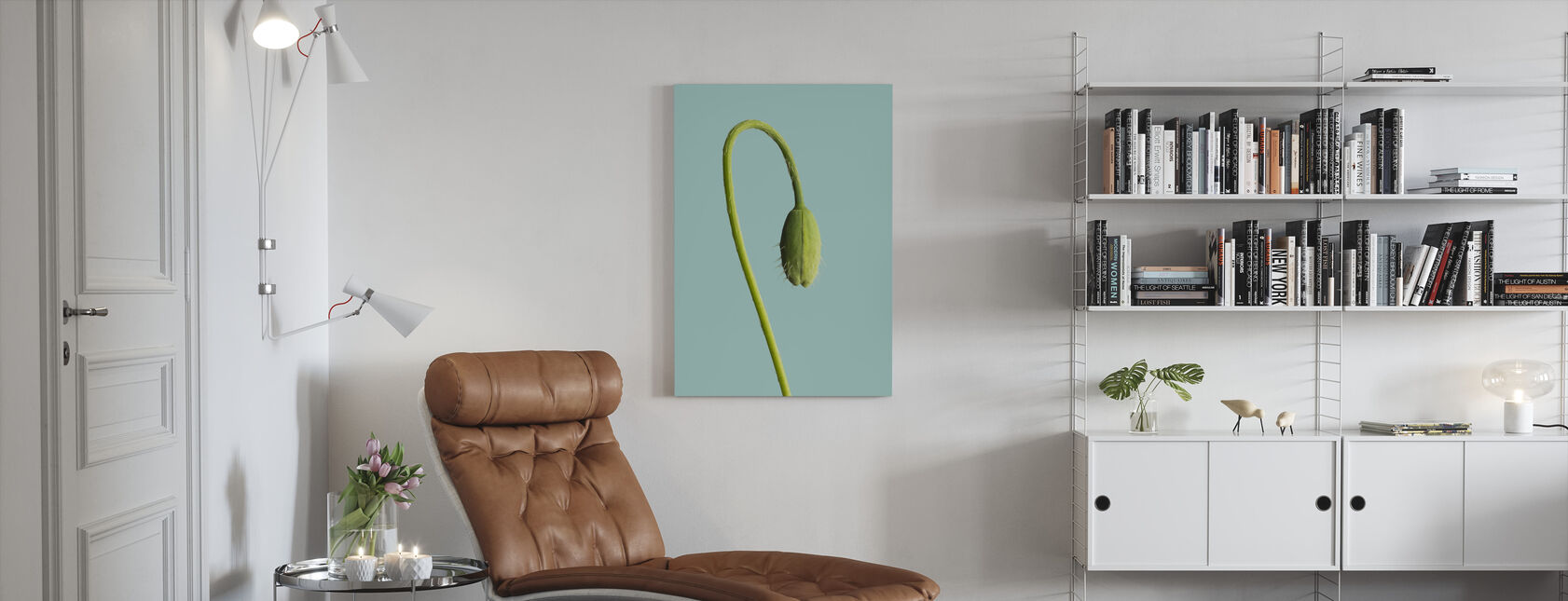 Bud on a Stem - Canvas print - Living Room