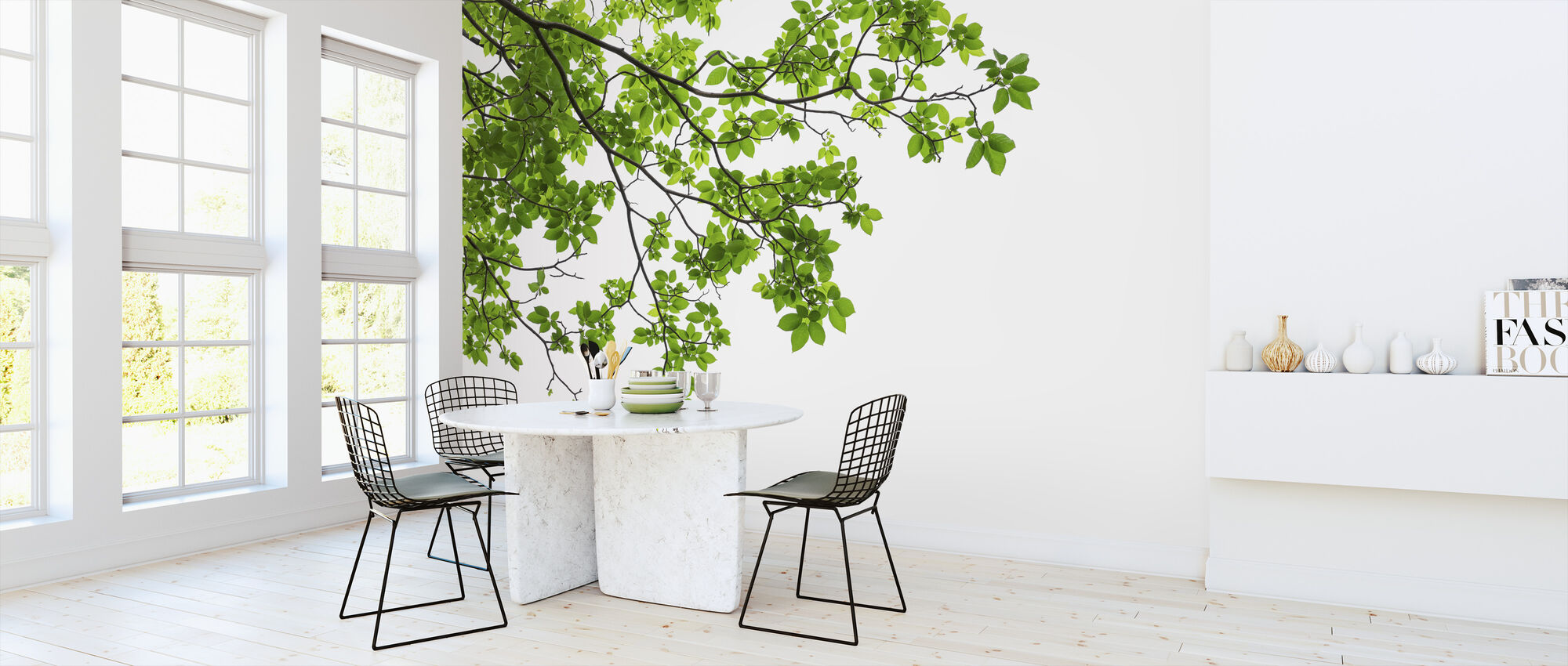 Tree Leaves and Branches - Wallpaper - Kitchen