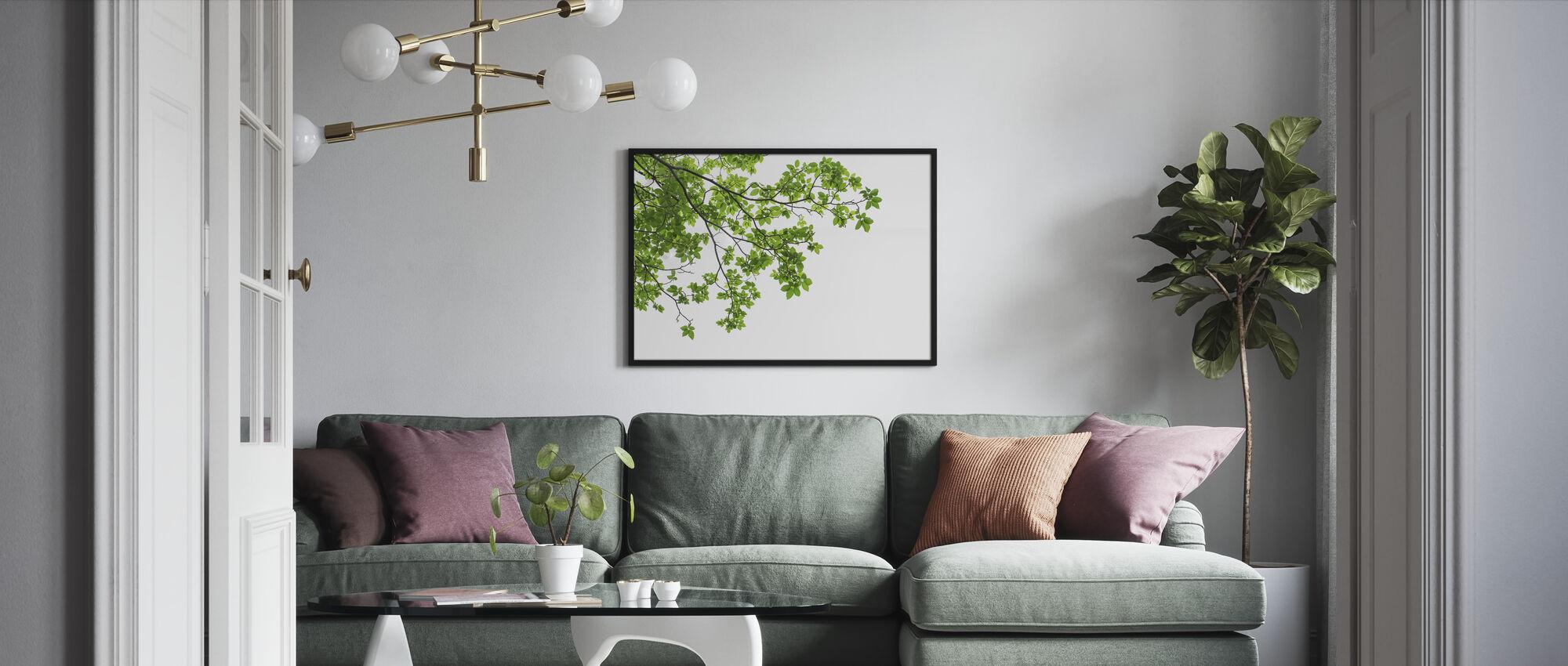 Treblader og grener - Innrammet bilde - Stue