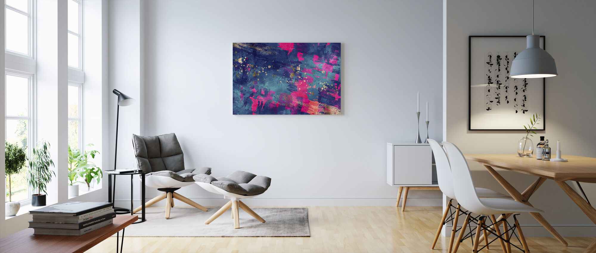 Abstract Oil Painting - Canvas print - Living Room