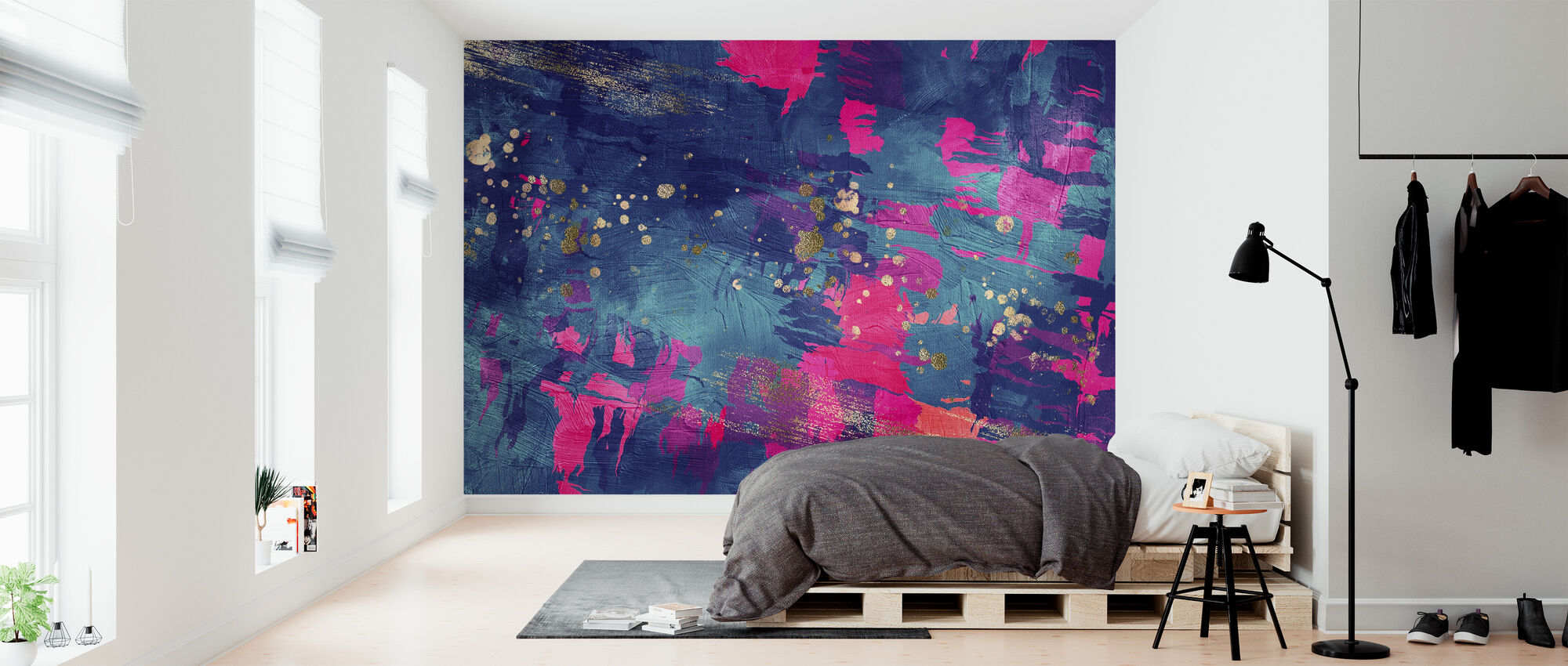 Abstract Oil Painting - Wallpaper - Bedroom