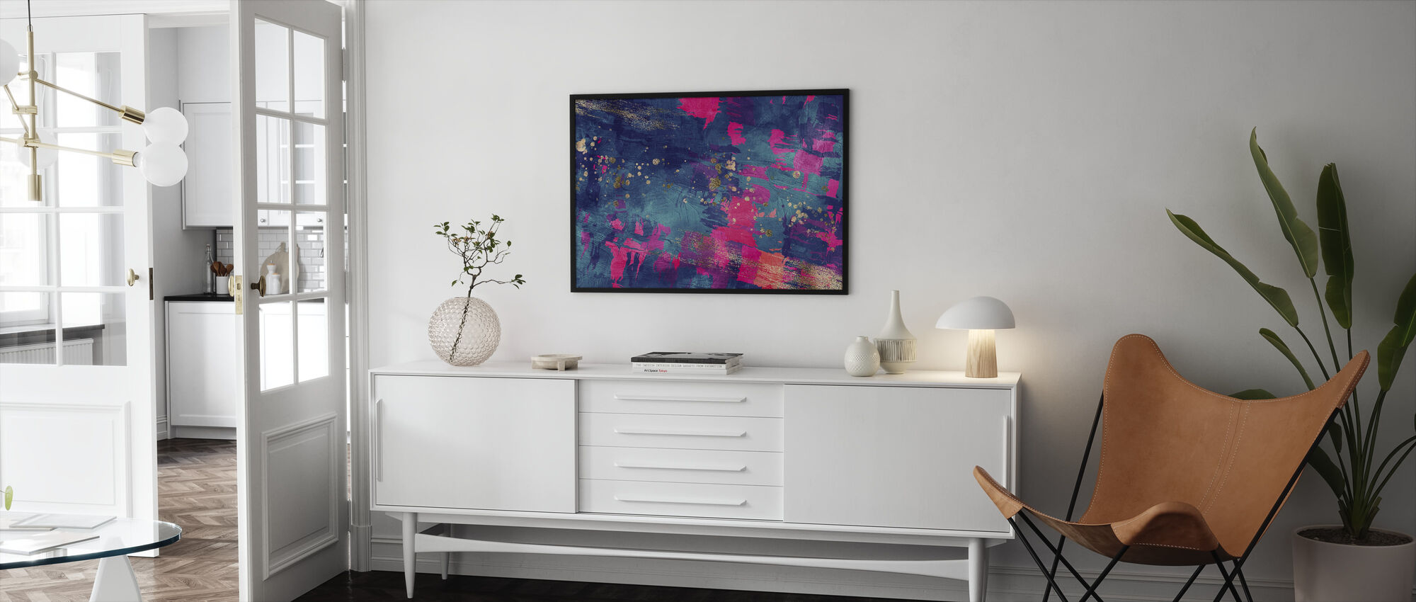 Abstract Oil Painting - Framed print - Living Room