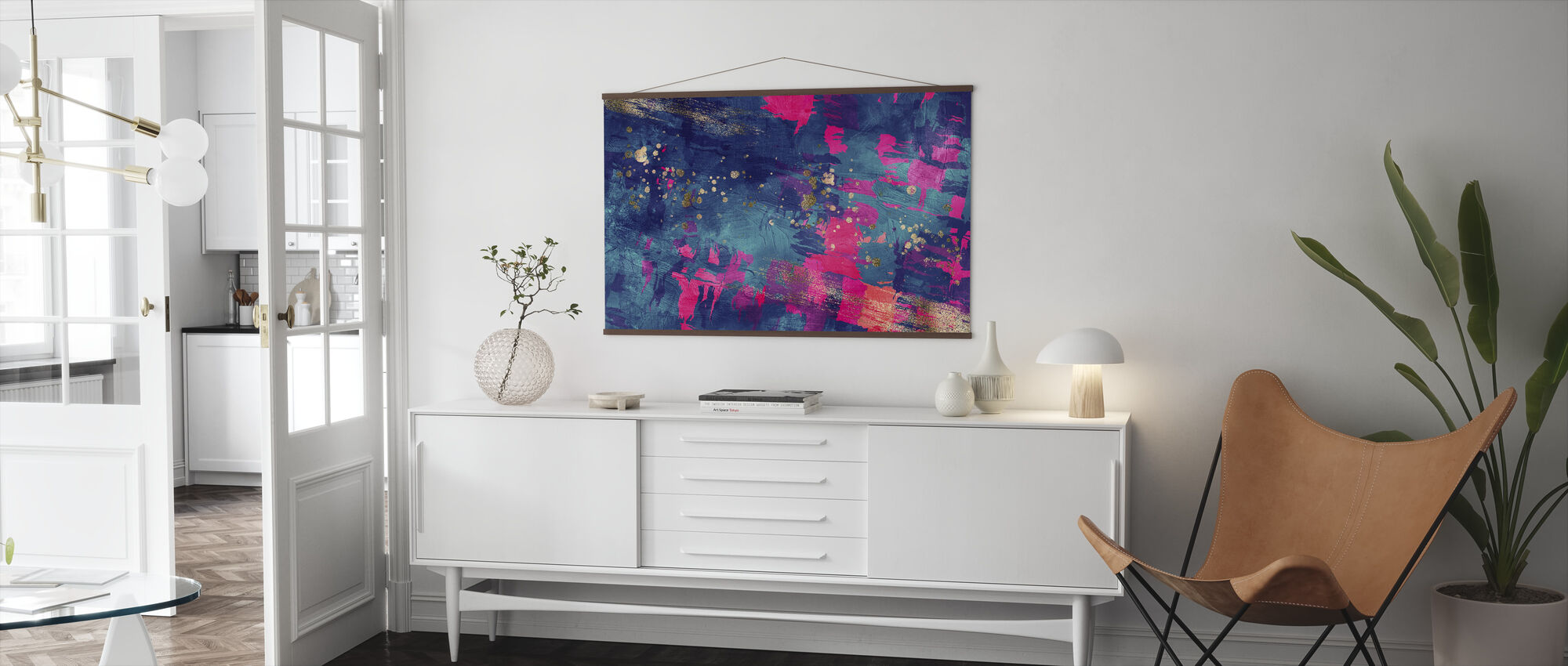 Abstract Oil Painting - Poster - Living Room