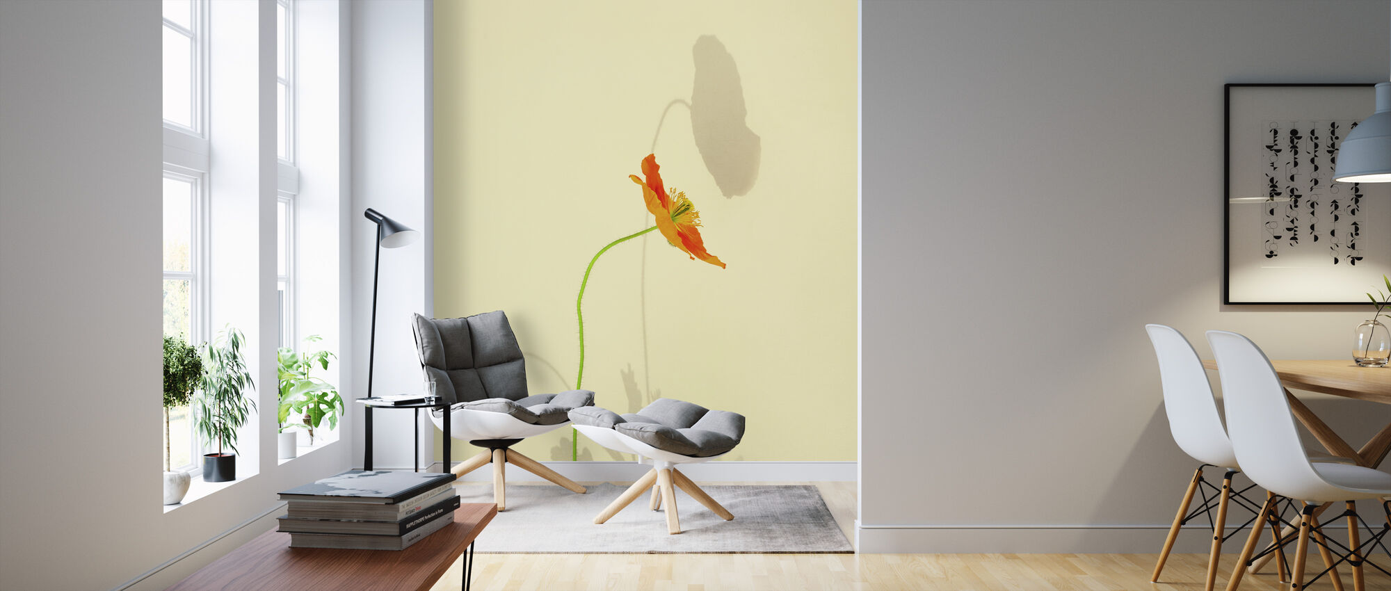 Orange Poppy - Wallpaper - Living Room