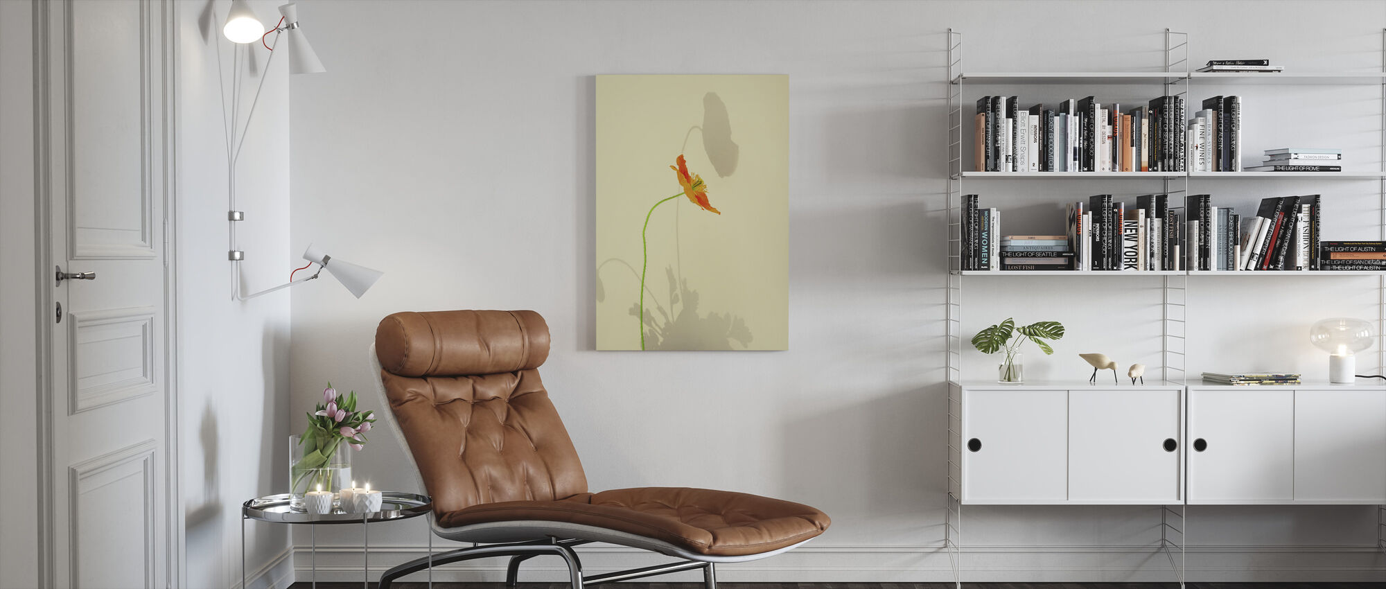 Oransje Poppy - Lerretsbilde - Stue