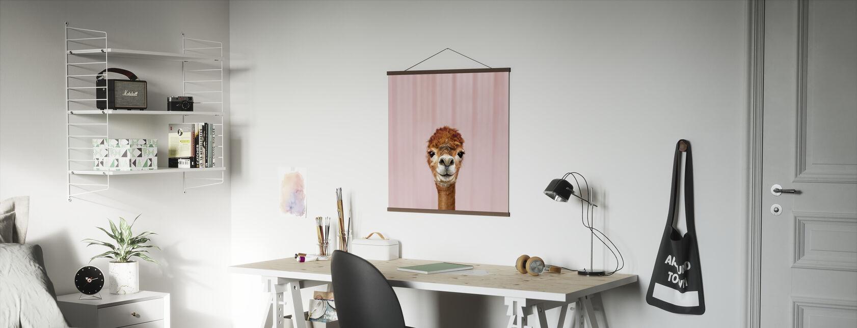 Alpaca Portrait - Poster - Office