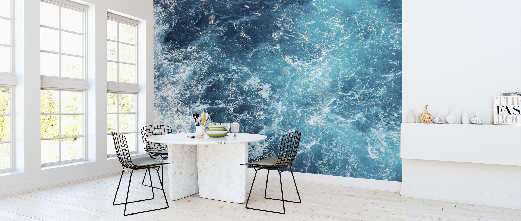 Rough Sea Waves - Wallpaper - Kitchen