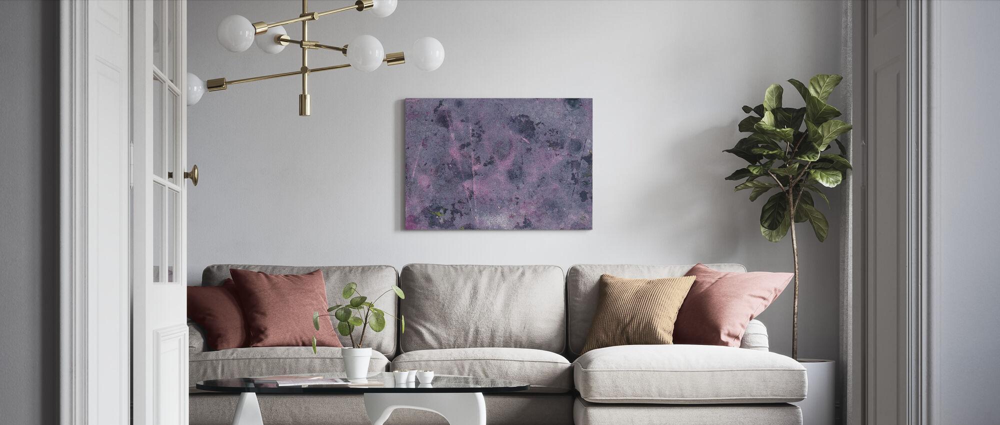 Torn Graffiti Wall - Canvas print - Living Room
