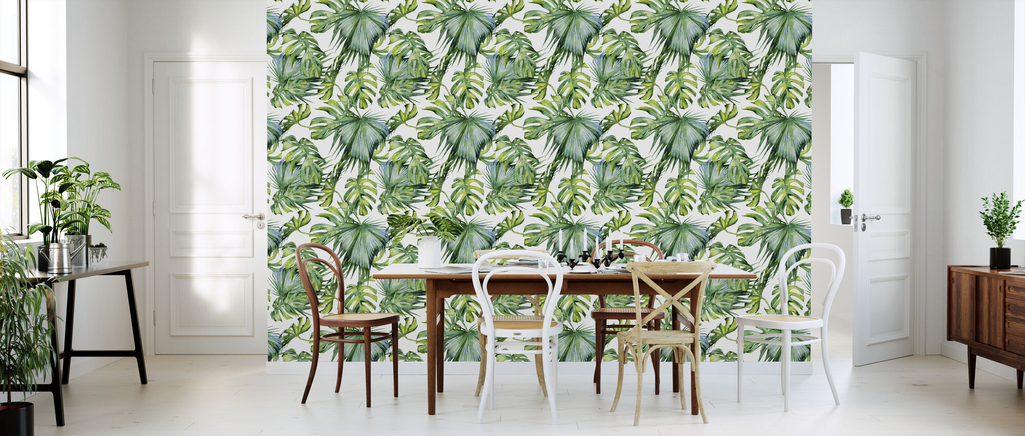 Tropische Blätter - Tapete - Küchen