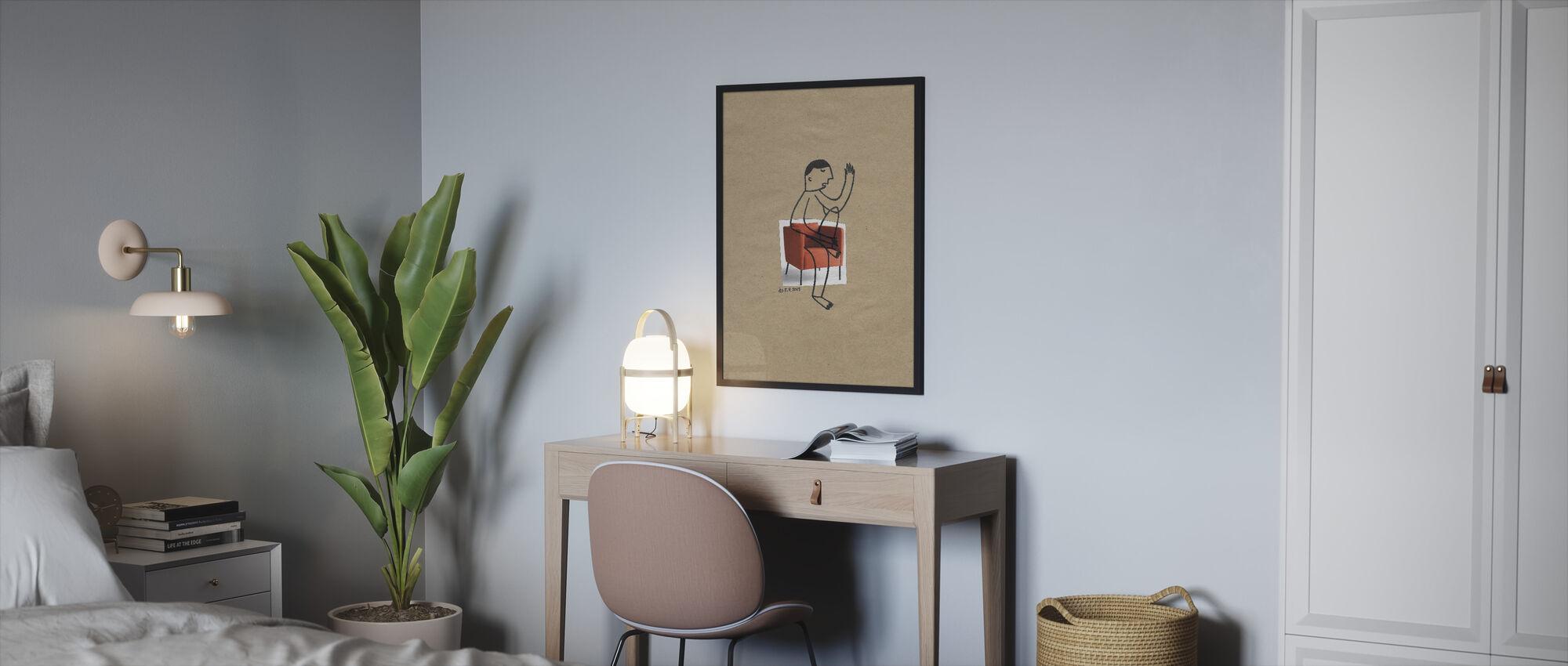Man Sitting - Framed print - Bedroom