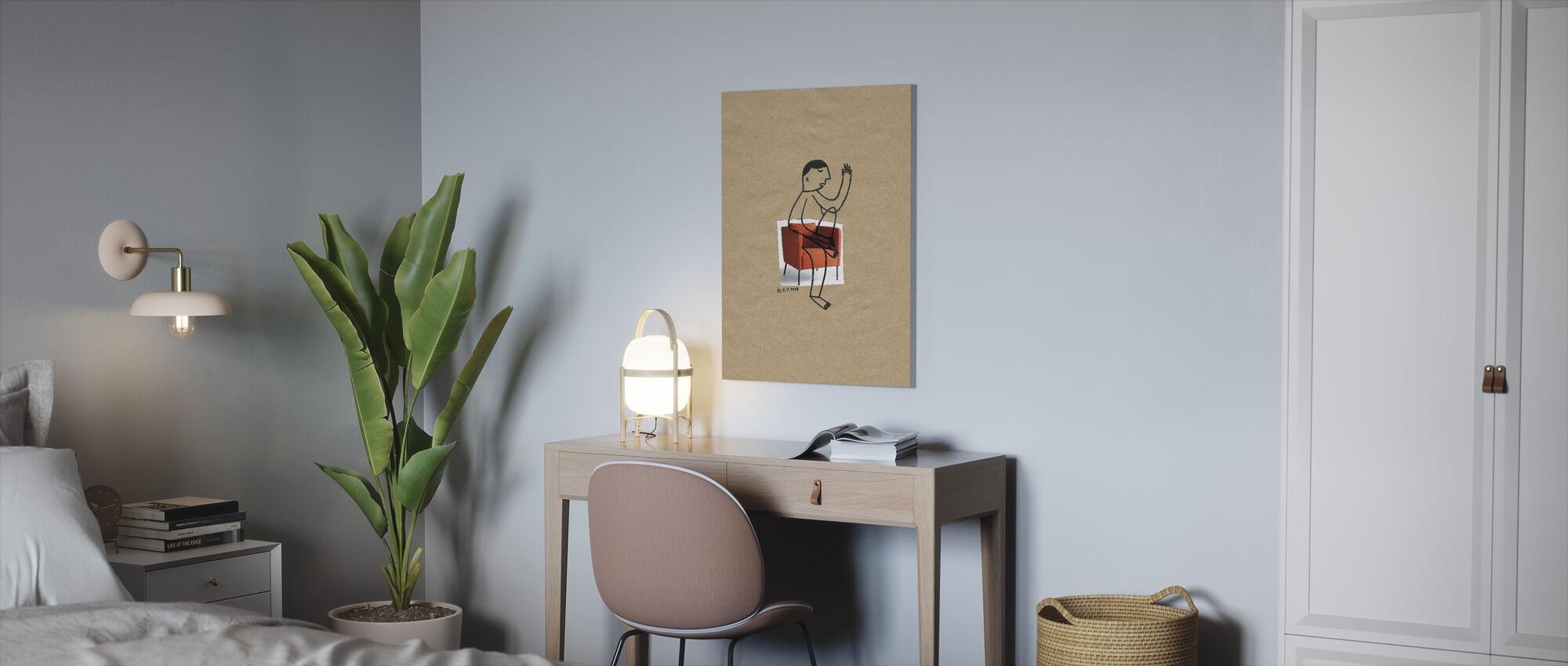 Man Sitting - Canvas print - Office