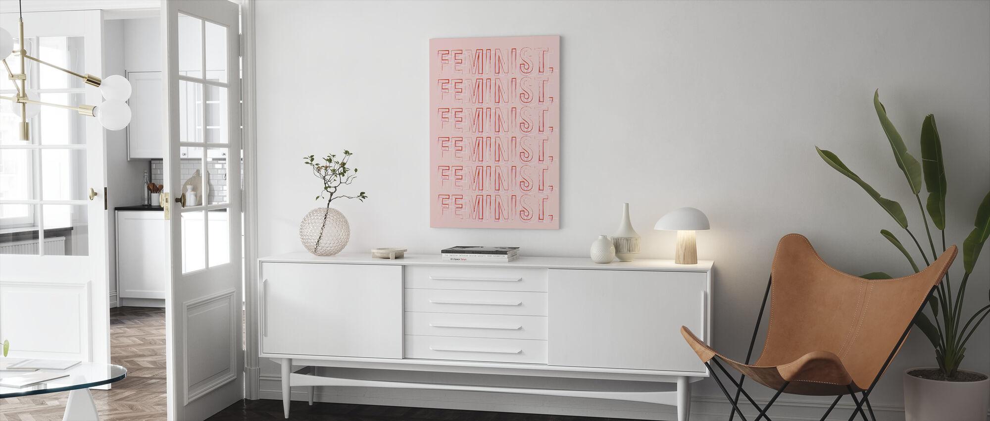 Feminist - Canvas print - Living Room