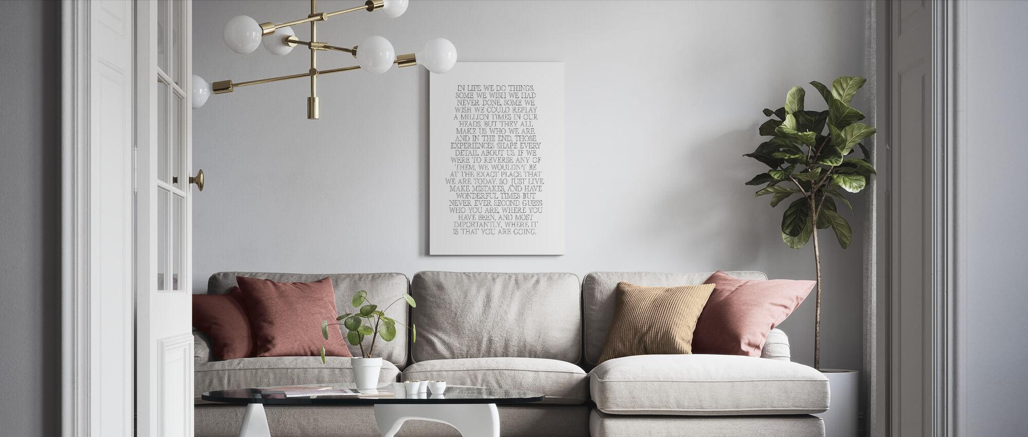 Elämässä - Canvastaulu - Olohuone