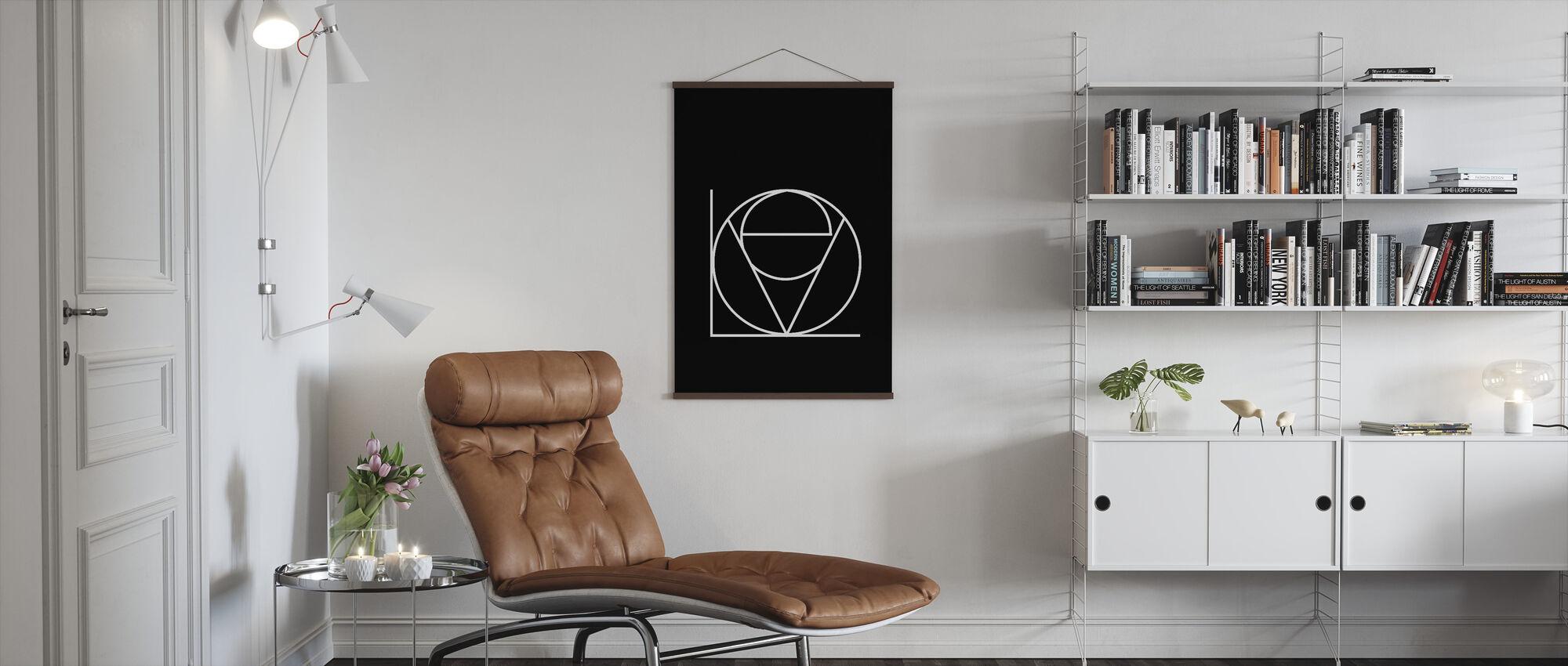 Love Black - Poster - Living Room