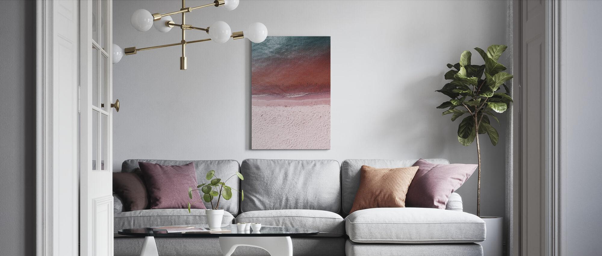 Vaaleanpunainen maa - Canvastaulu - Olohuone