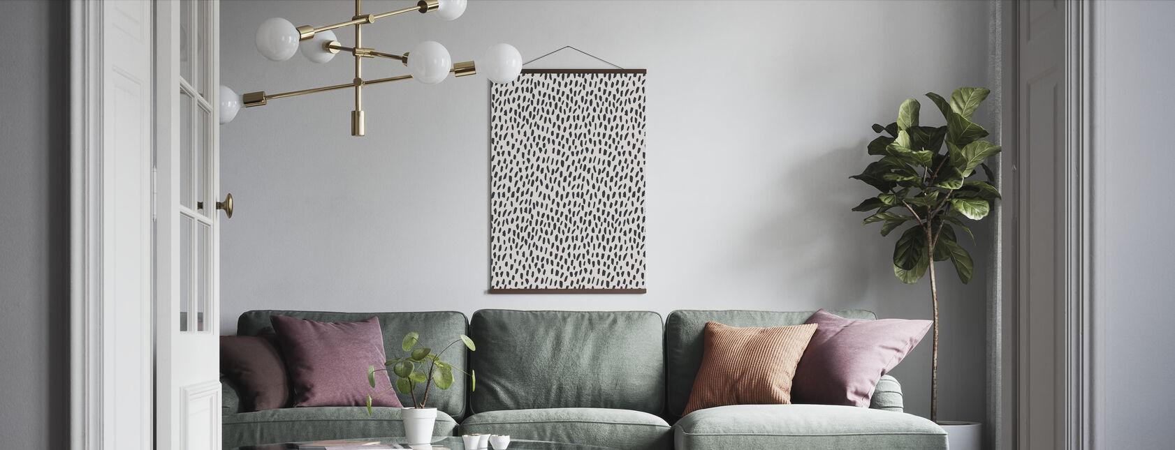 Zoute luipaard - Poster - Woonkamer