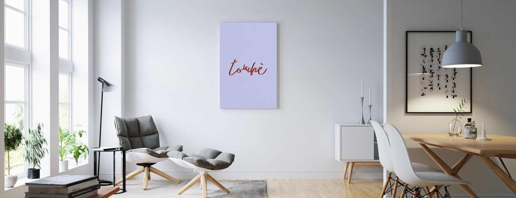 Touche - Obraz na płótnie - Pokój dzienny