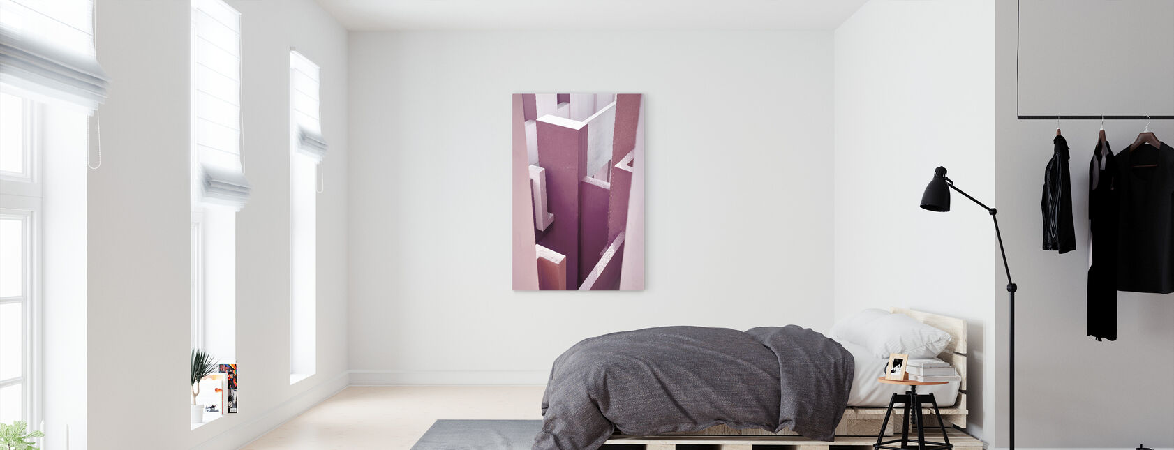 Red Wall - Canvas print - Bedroom