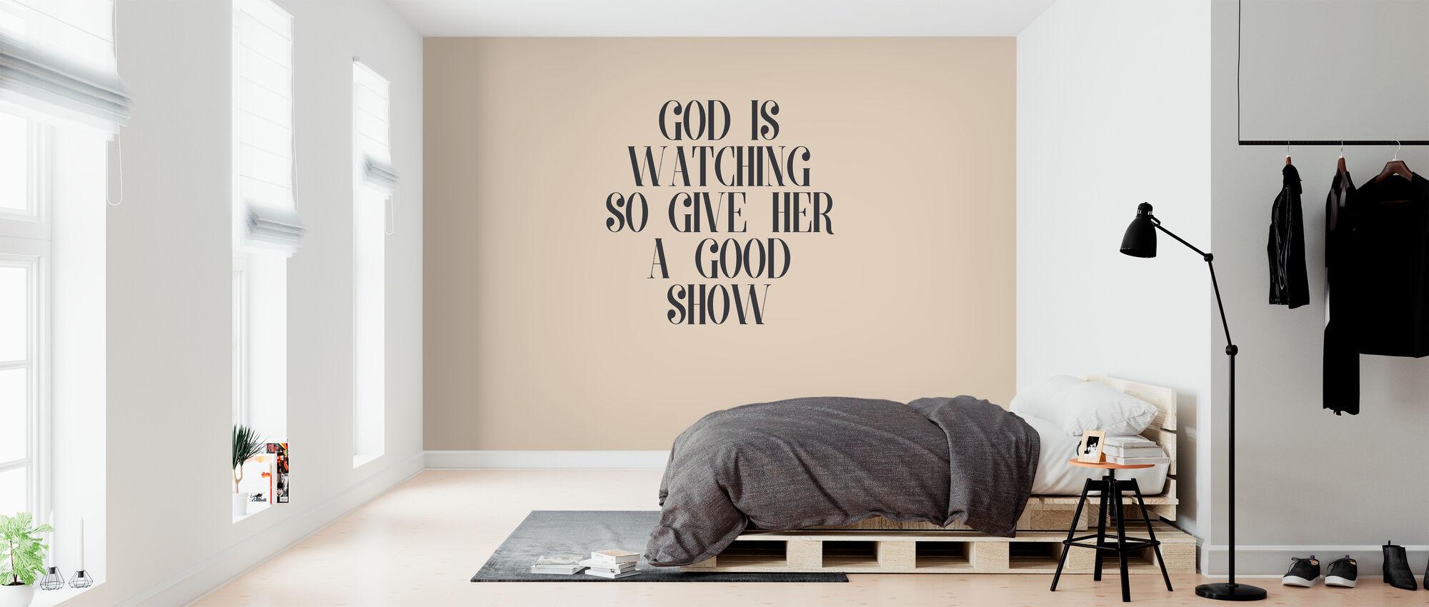 Jumala katselee - Tapetti - Makuuhuone