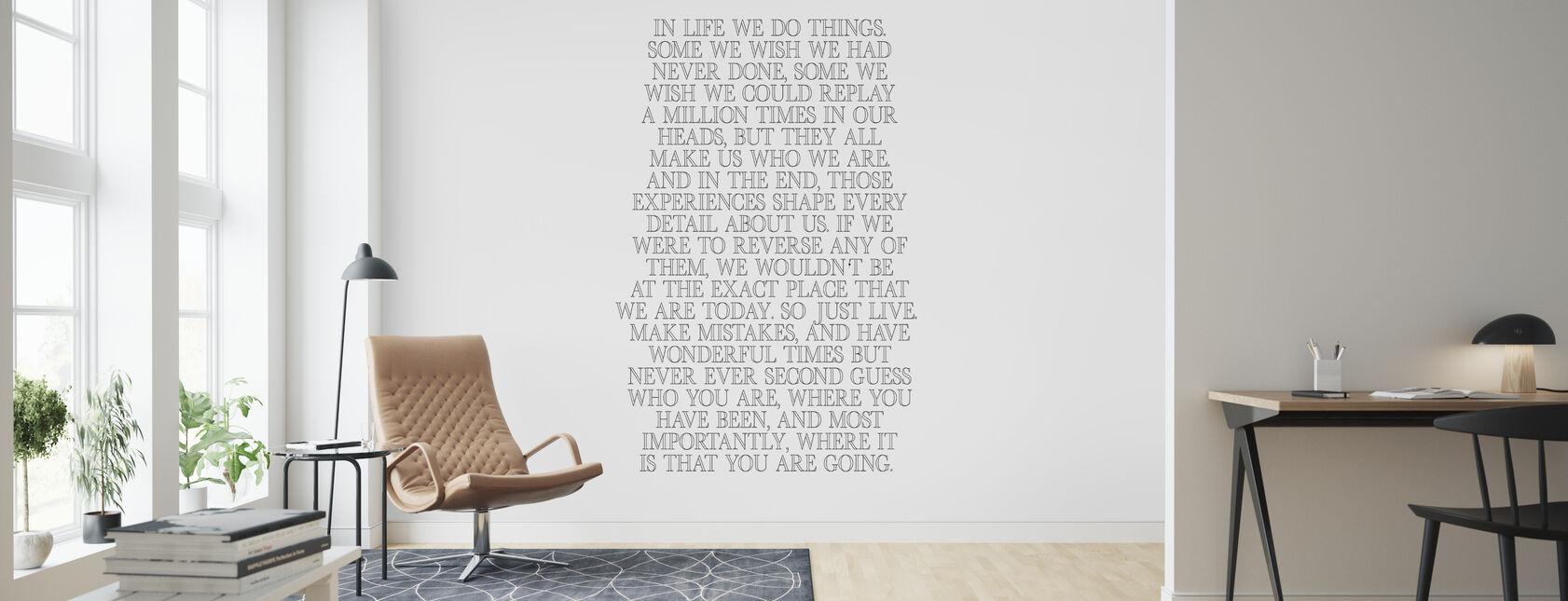 In het leven - Behang - Woonkamer