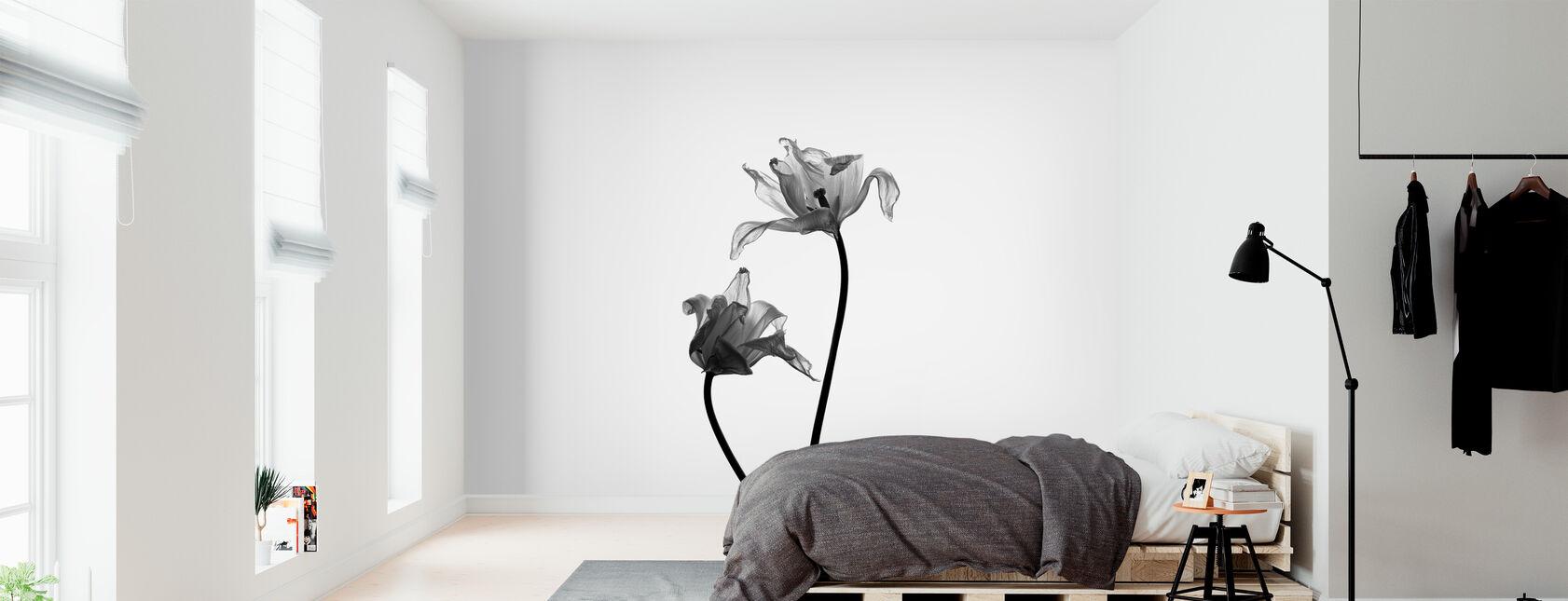 Iris. - Ja - Behang - Slaapkamer