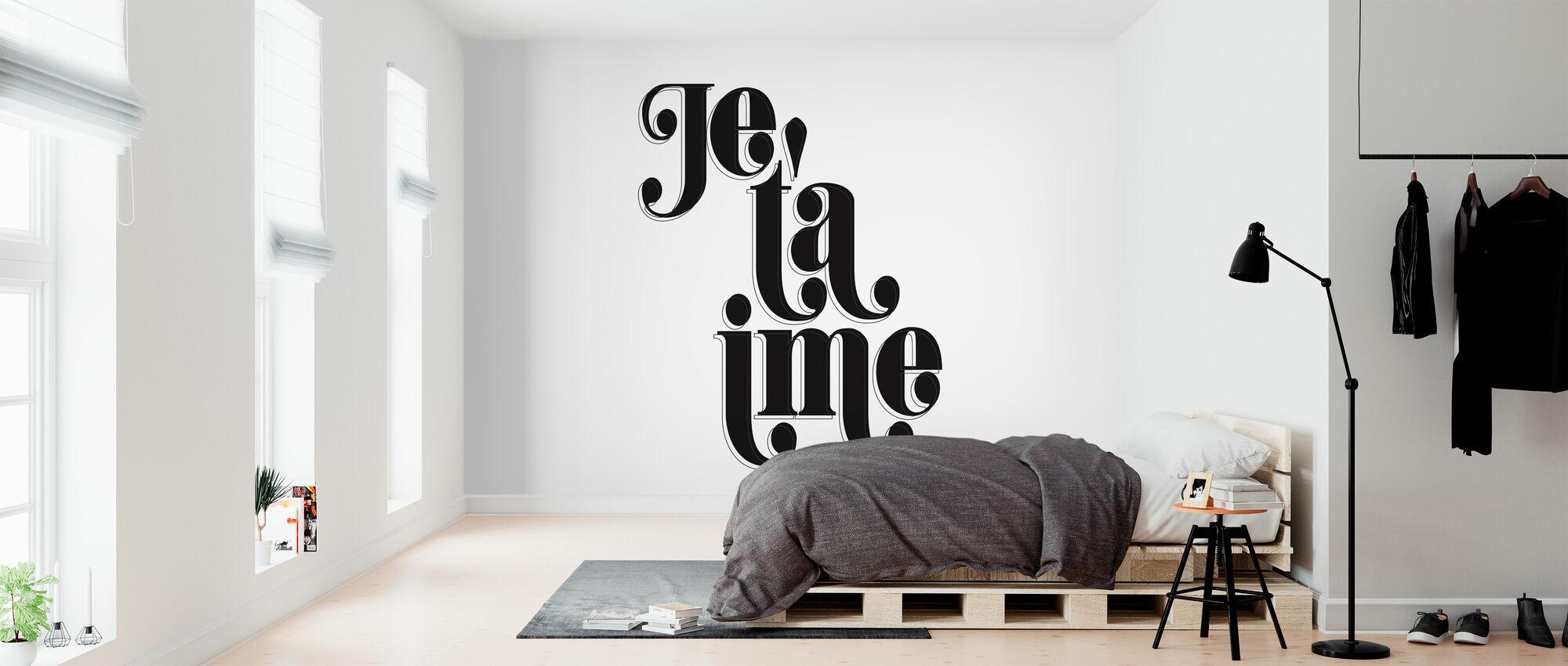 Ik hou van T - Behang - Slaapkamer