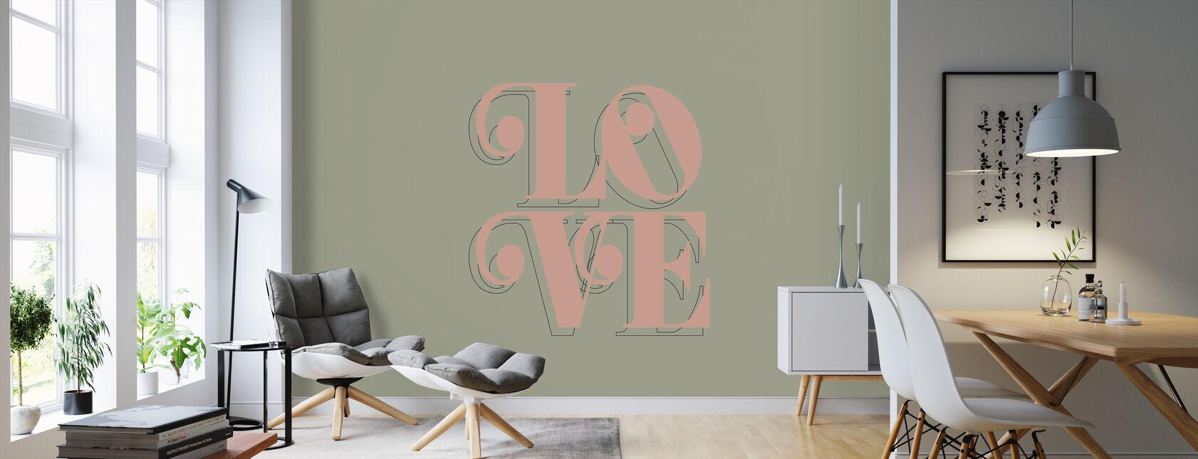 Liefde boerenkool - Behang - Woonkamer