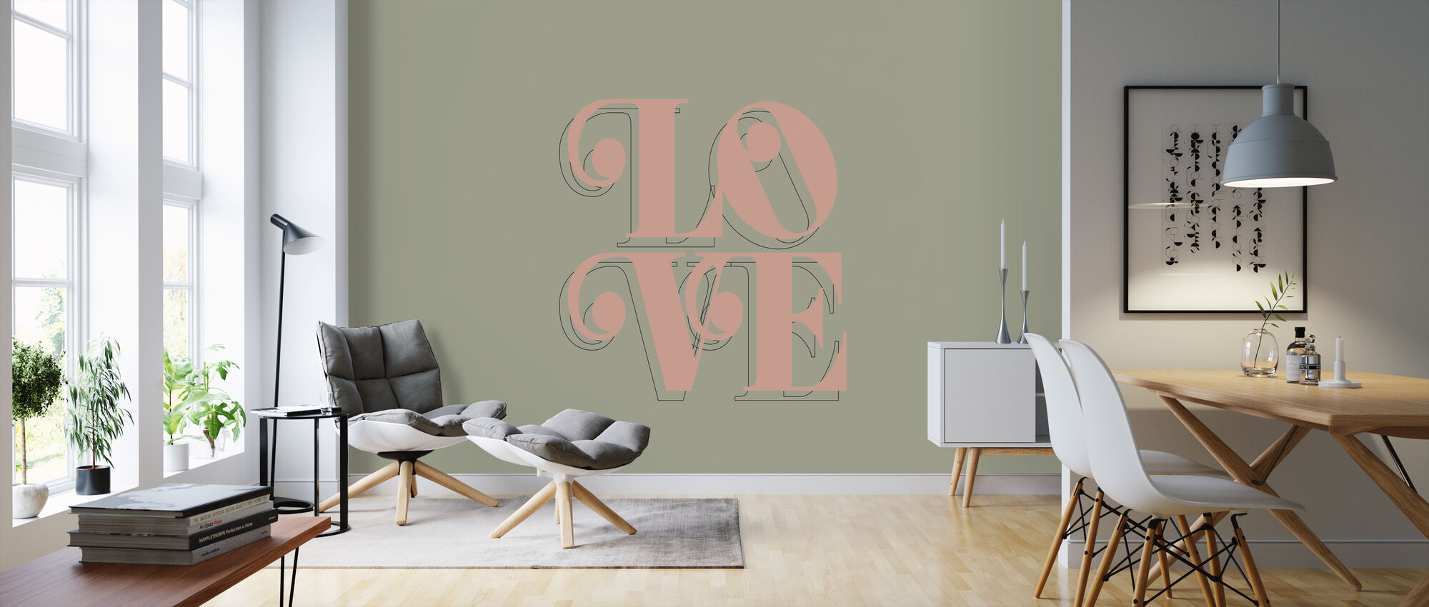 Love Kale - Wallpaper - Living Room