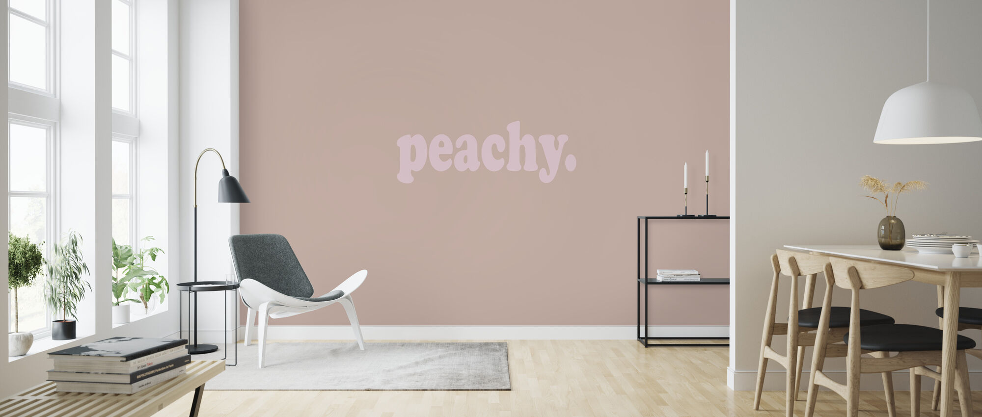 Peachy - Wallpaper - Living Room
