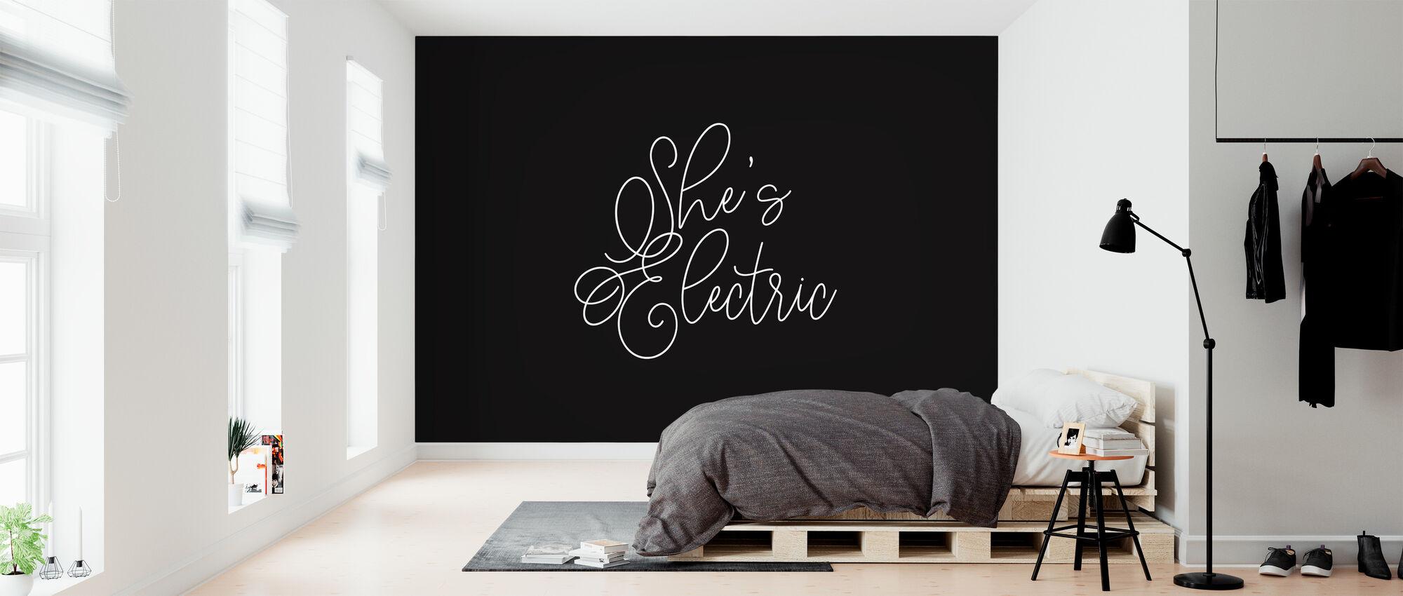 Shes Electric - Behang - Slaapkamer