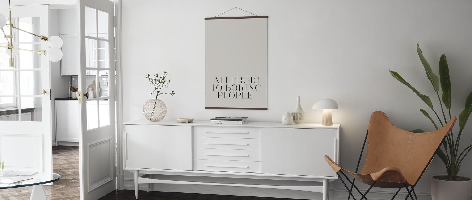 Allergic to Boring - Poster - Living Room
