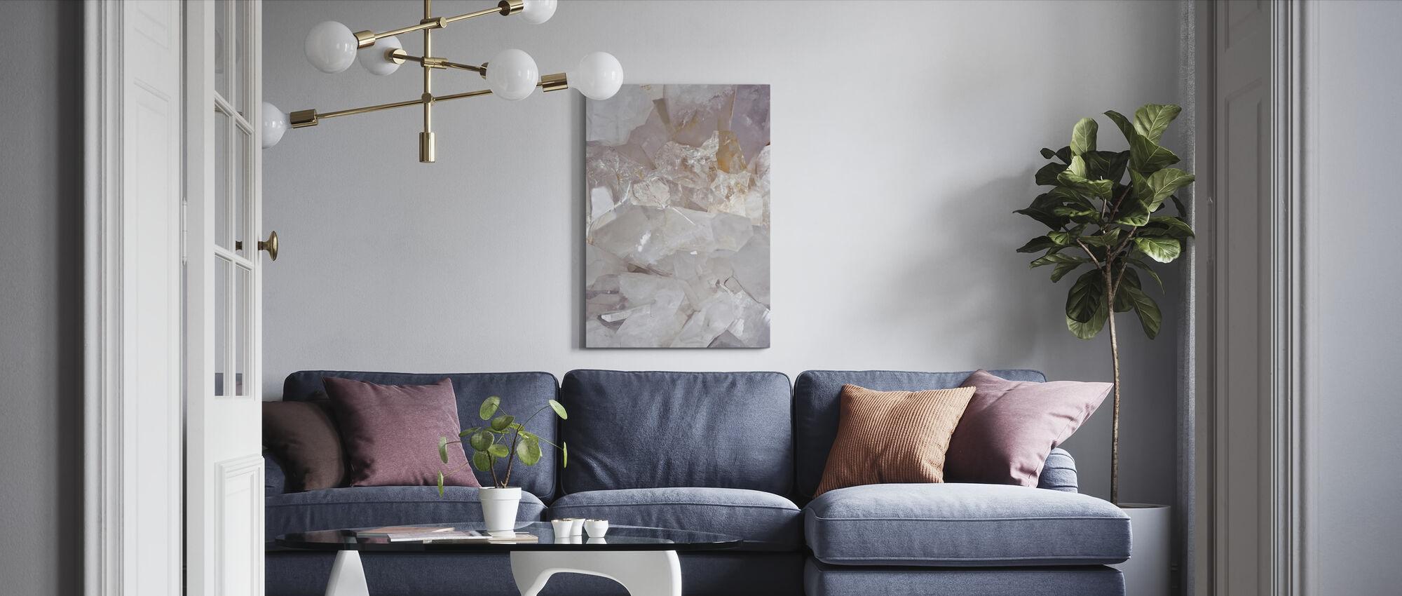 Clear Quartz - Canvas print - Living Room