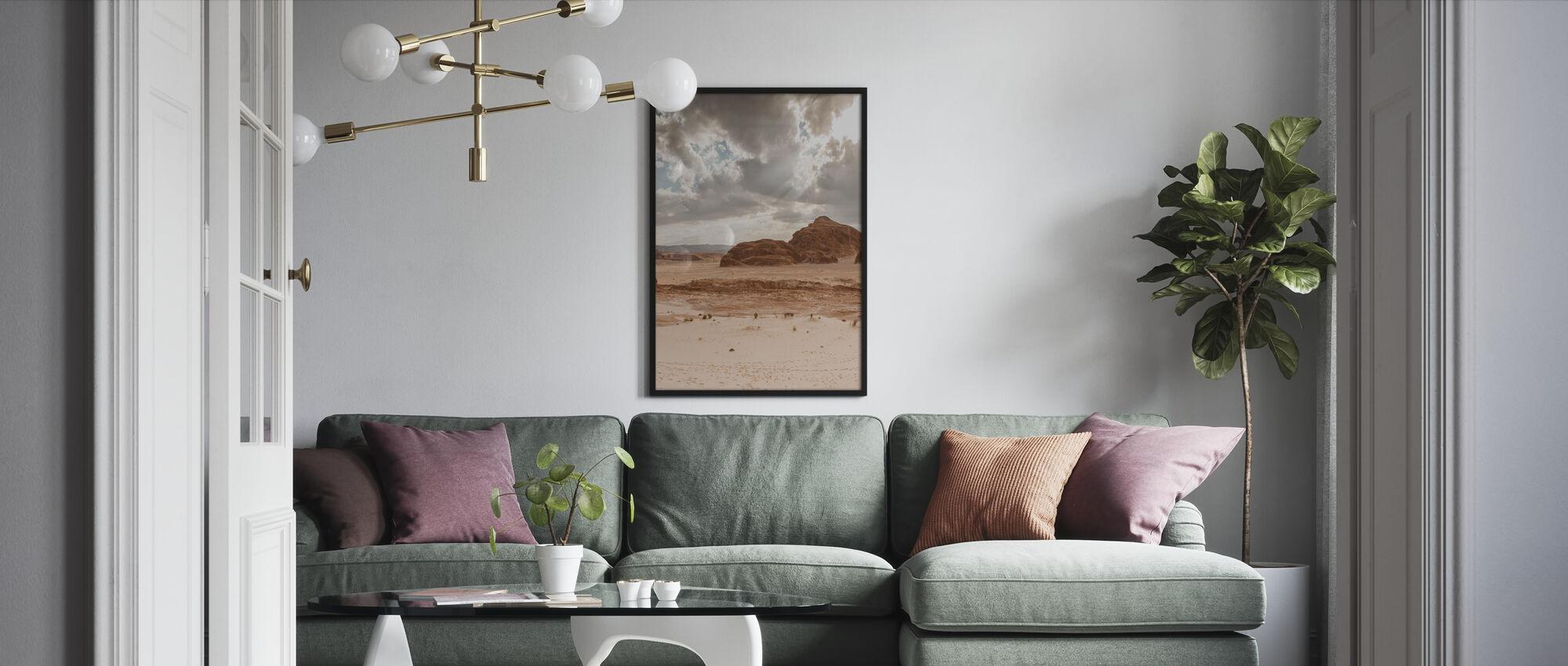 Desert Pt IIII - Framed print - Living Room