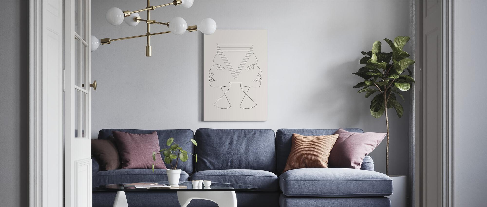Gemini - Canvas print - Living Room