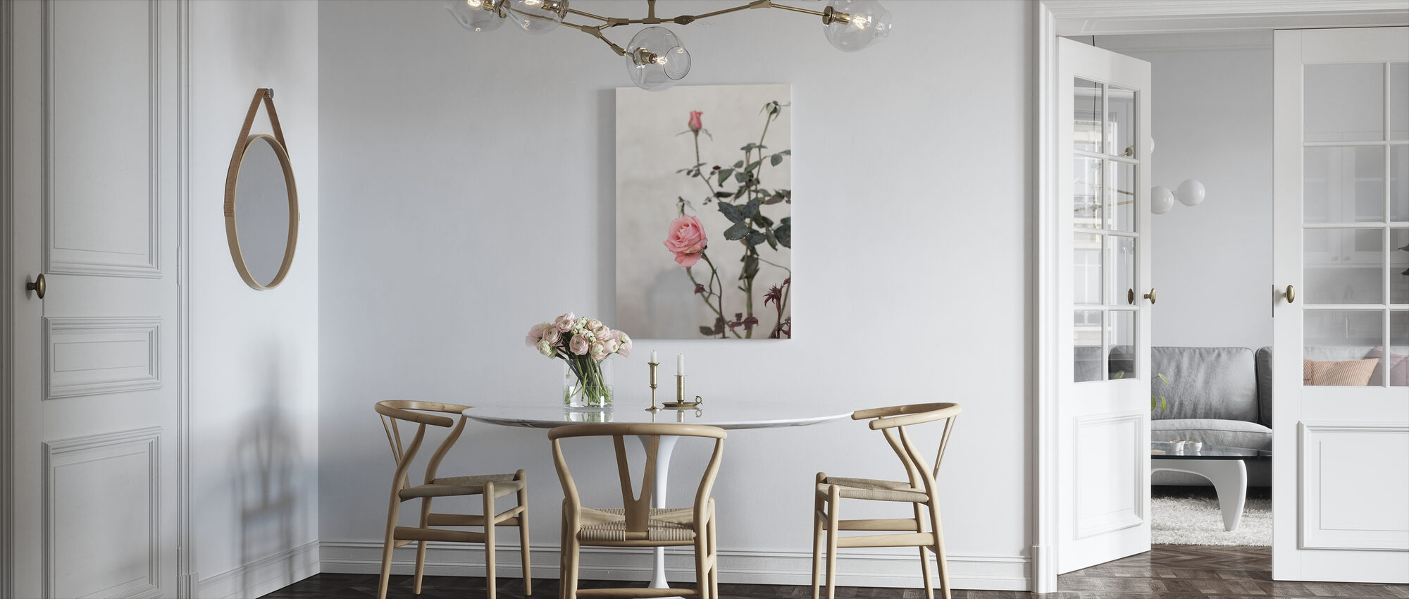 Hazy Rose Garden Print - Canvas print - Kitchen