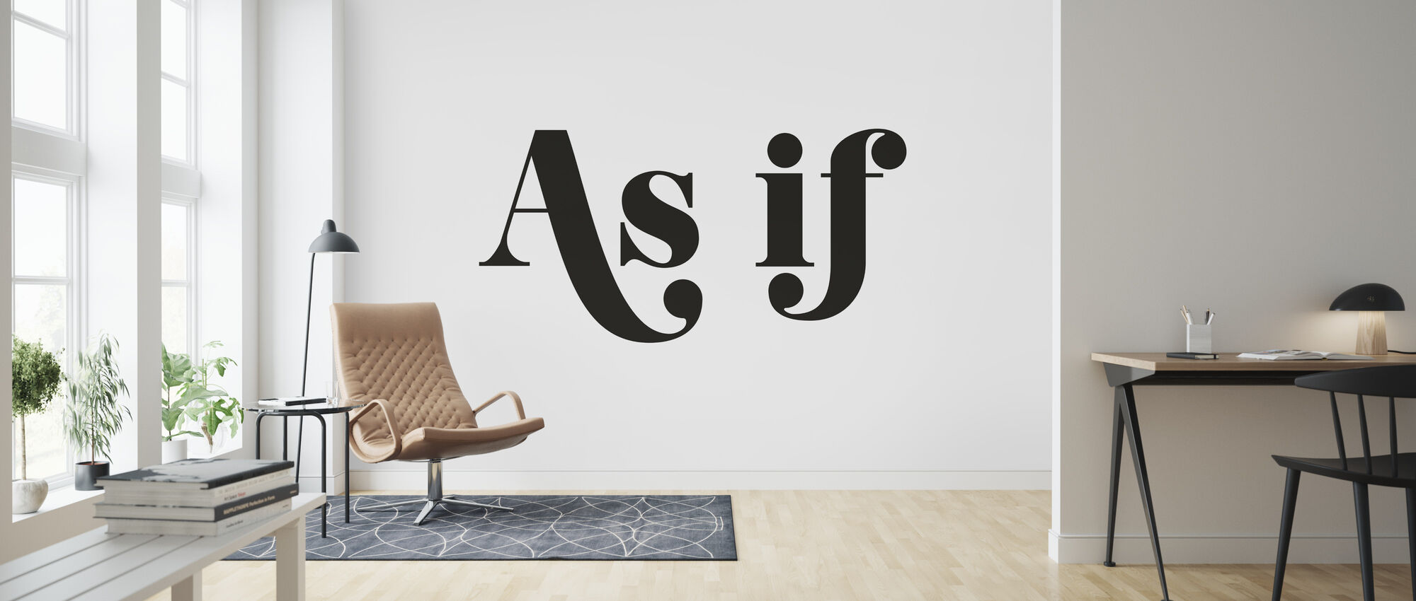 As If - Wallpaper - Living Room