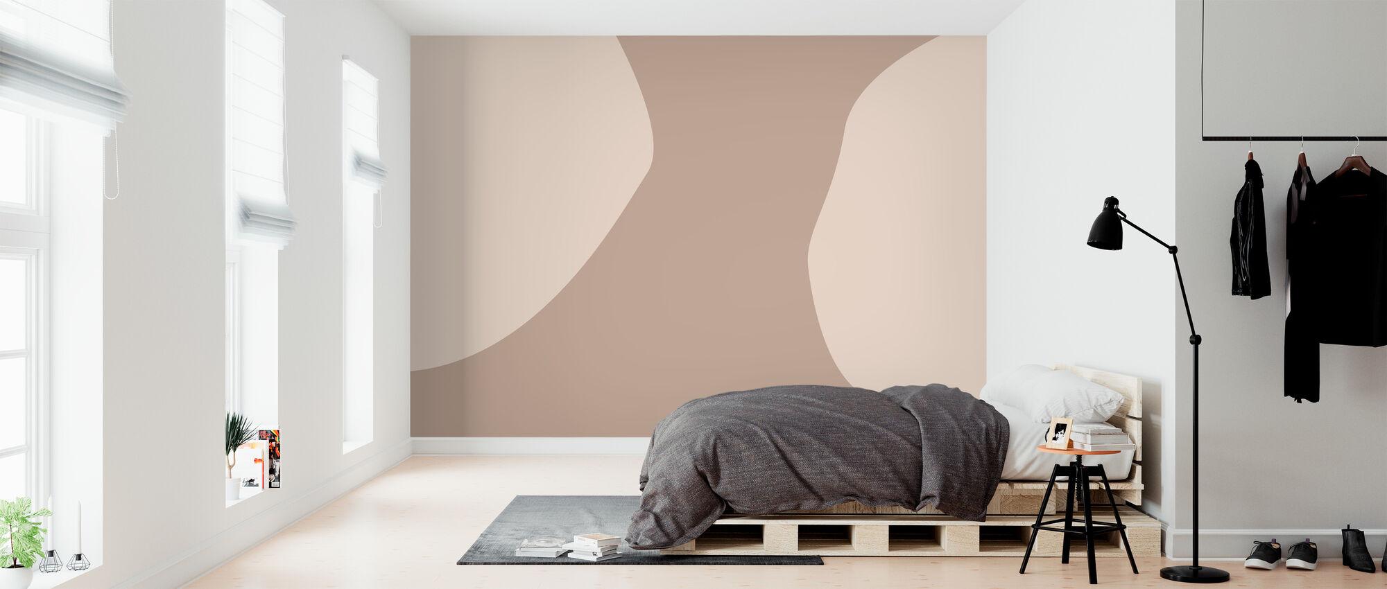 Camel Coloured - Wallpaper - Bedroom