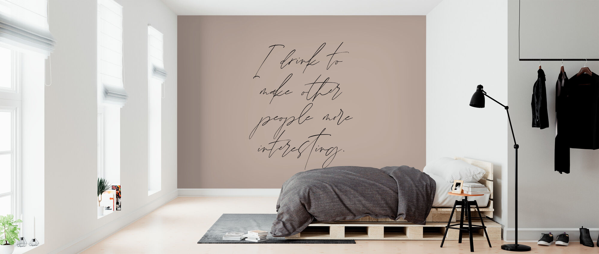 Ik drink - Behang - Slaapkamer