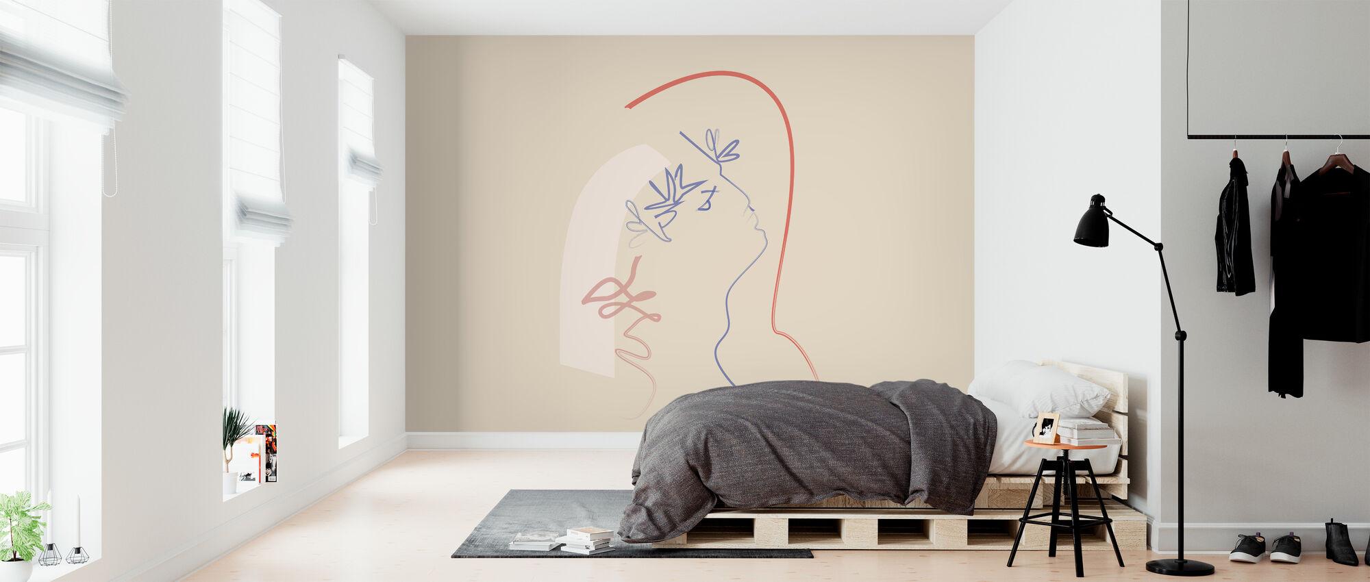 Kussen uit de hemel - Behang - Slaapkamer