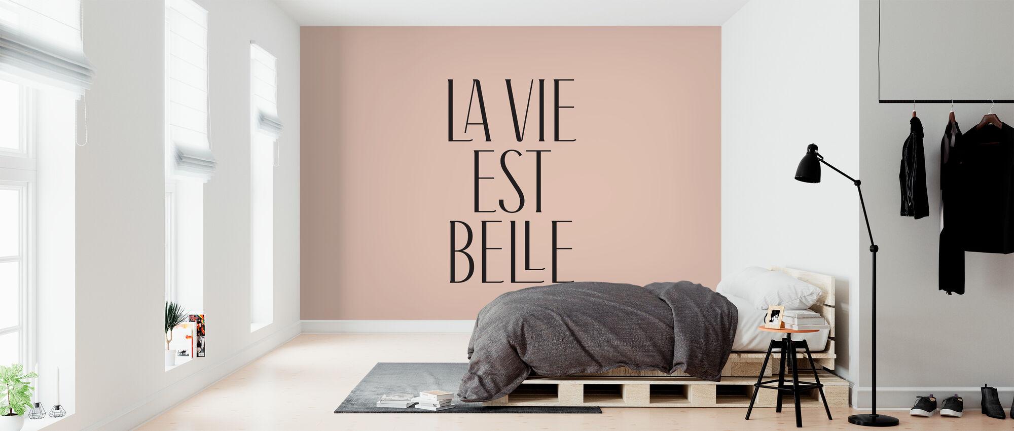 Het leven is mooi - Behang - Slaapkamer
