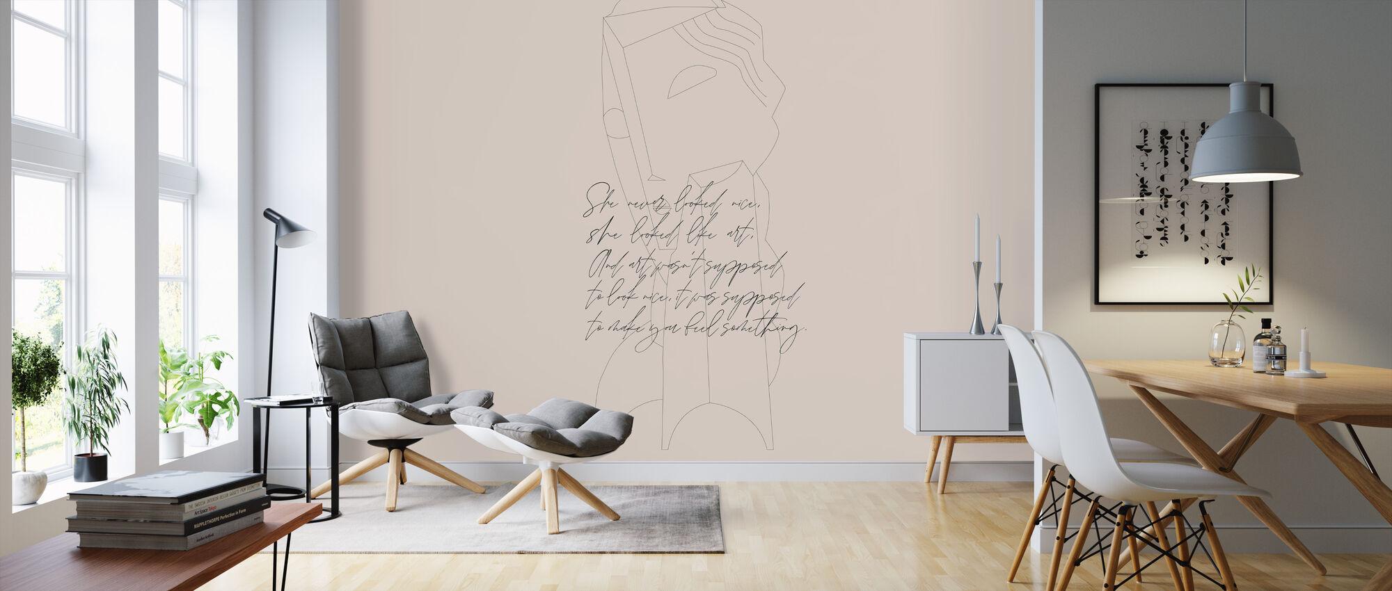 She Looked Like Art - Wallpaper - Living Room