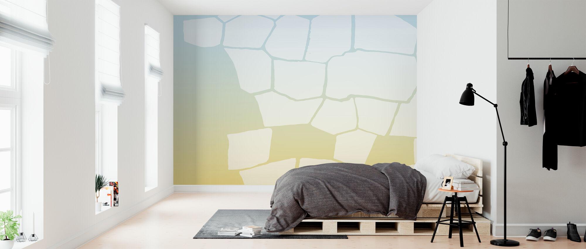 Invertert gul vegg - Tapet - Soverom