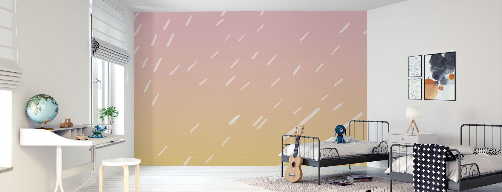 Summer Rain - Wallpaper - Kids Room
