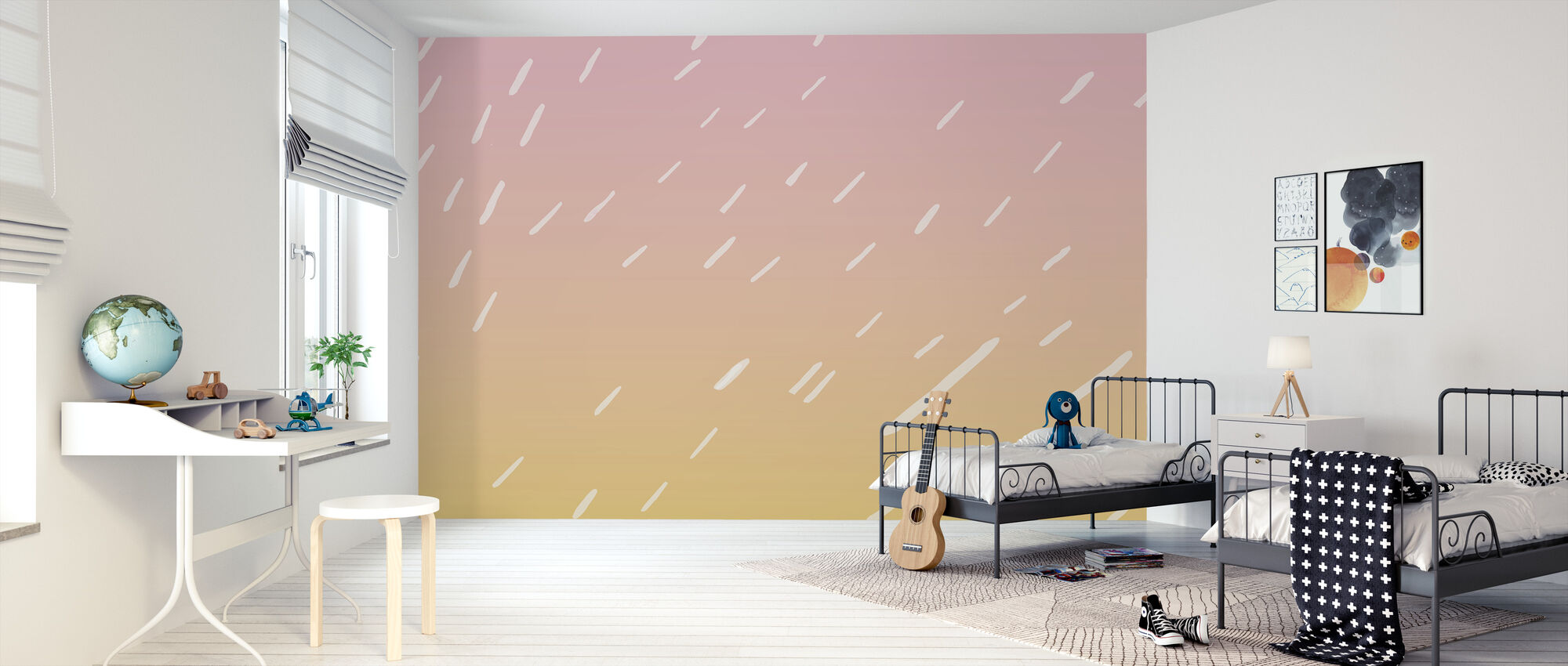 Zomer Regen - Behang - Kinderkamer