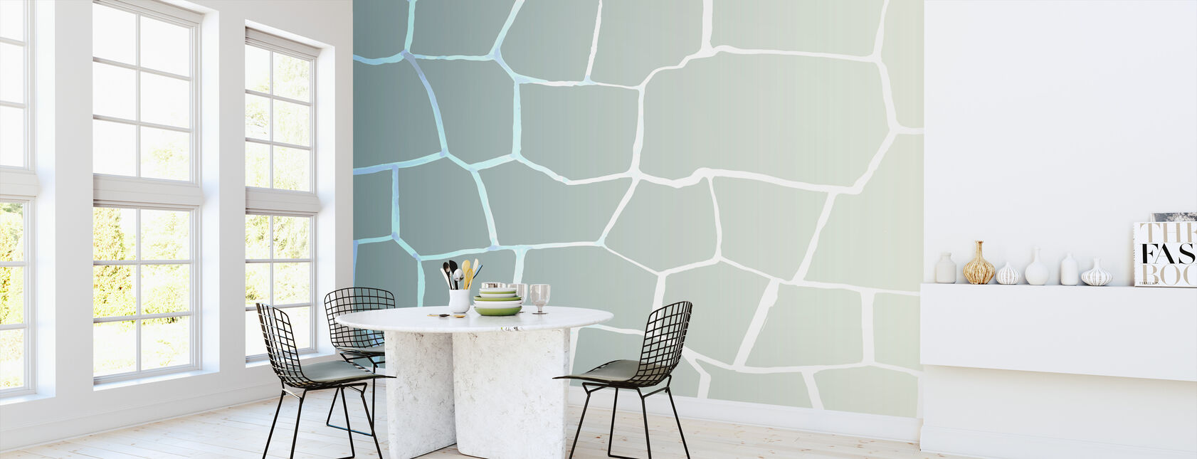 Green Wall - Wallpaper - Kitchen