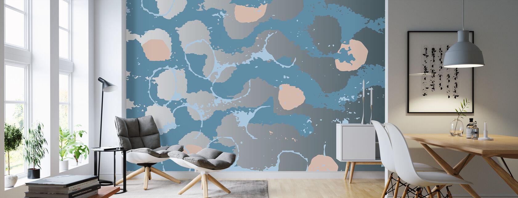 Blue Reflections - Wallpaper - Living Room