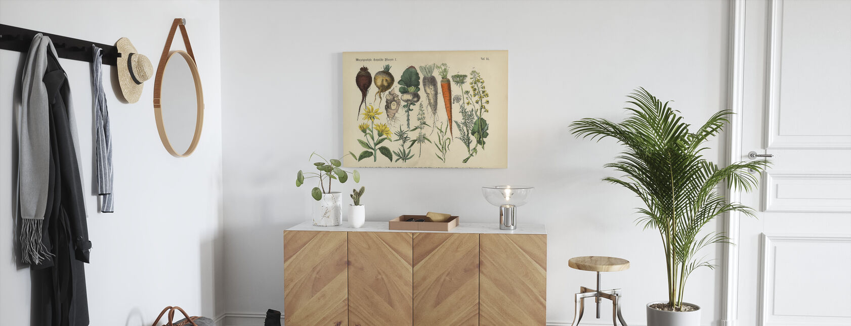 Wortelgewassen en groenten - Canvas print - Gang