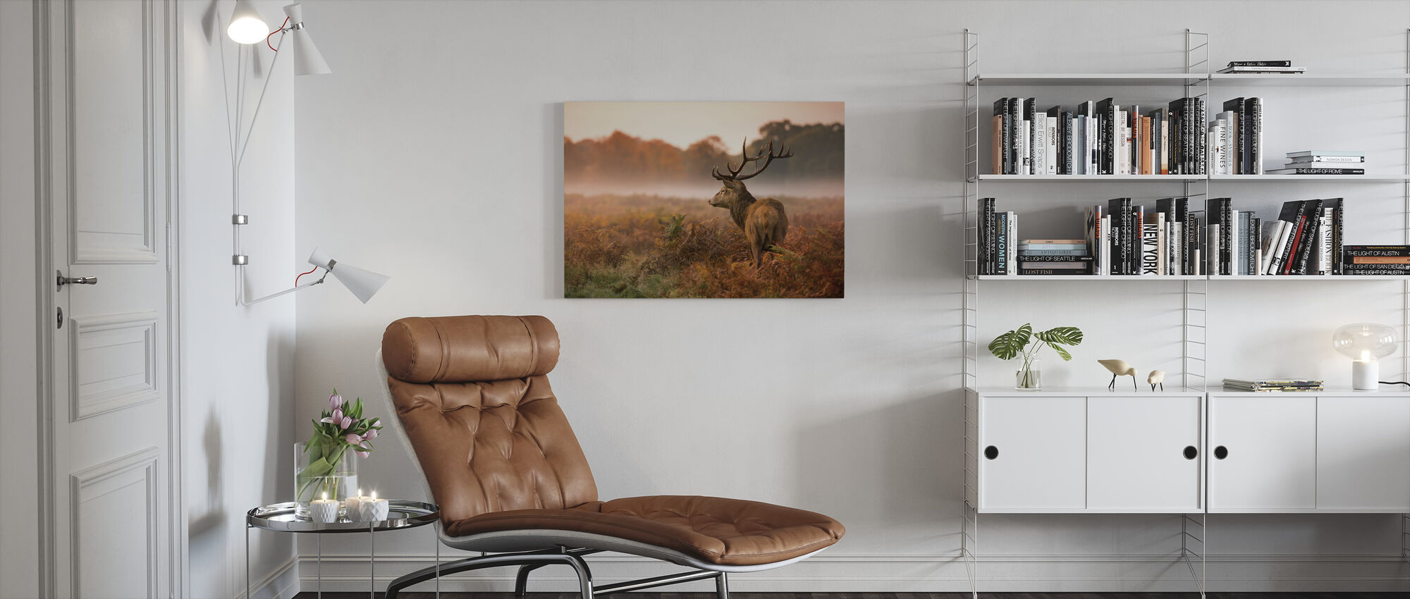 Red Deer Stag - Canvas print - Living Room
