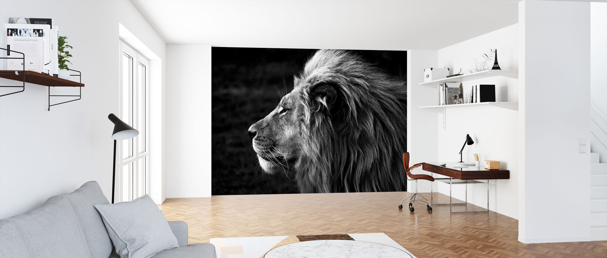 Lion - Wallpaper - Office